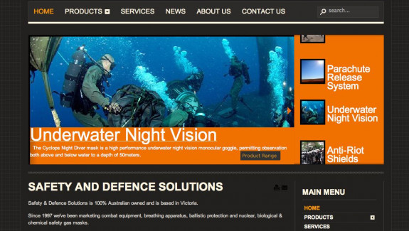 Safety and Defence Solutions - Home Page